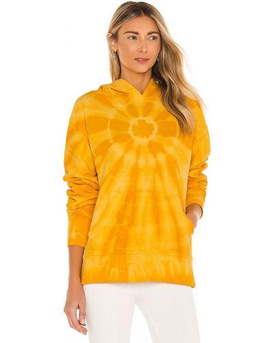 Ватная махровая желтая резинка для волос Dannijo
