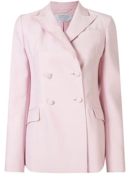 Розовый пиджак двубортный с карманами Gabriela Hearst