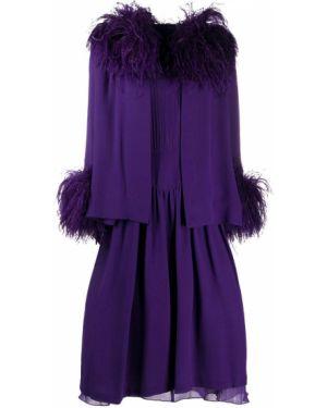 Fioletowy garnitur z jedwabiu z paskiem Valentino Pre-owned