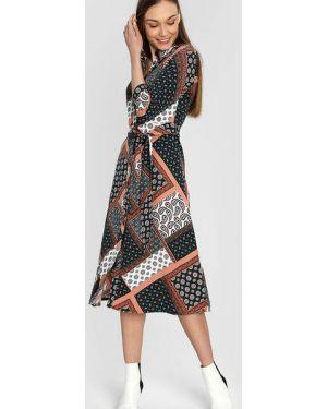 Платье макси через плечо классическое Ostin