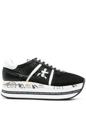Кроссовки на платформе - черные Premiata