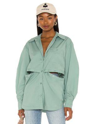 Хлопковая блузка - зеленая L'academie