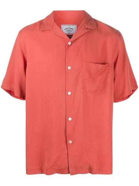 Розовая прямая фланелевая рубашка с короткими рукавами с воротником Portuguese Flannel