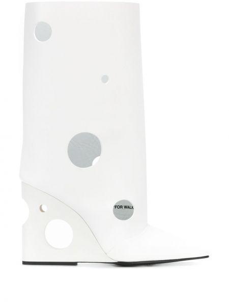 Kozaki skórzane - białe Off-white