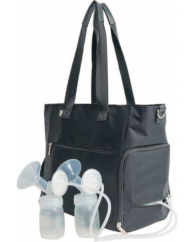 Czarna torebka z nylonu Beis