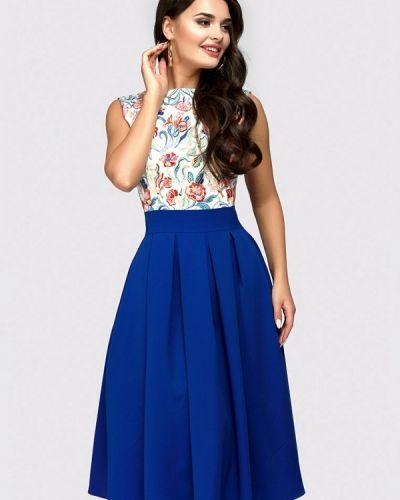 Повседневное платье весеннее синее 1001dress