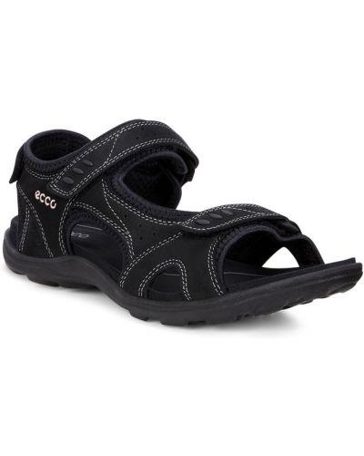 Спортивные сандалии на липучках черные Ecco