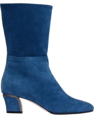 Полусапожки замшевые синий Giorgio Fabiani