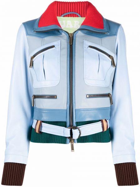 Синяя куртка длинная Dsquared2