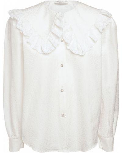 Biała koszula bawełniana Alessandra Rich