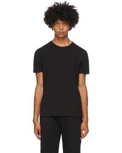 Bawełna czarny koszula krótkie z krótkim rękawem z haftem z kołnierzem Mcq Alexander Mcqueen