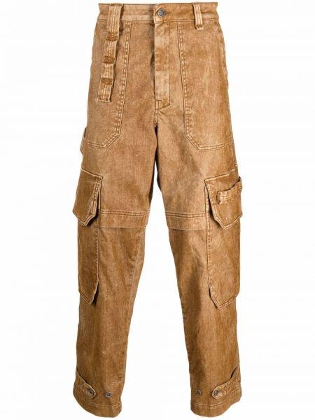 Бежевые хлопковые джинсы Diesel