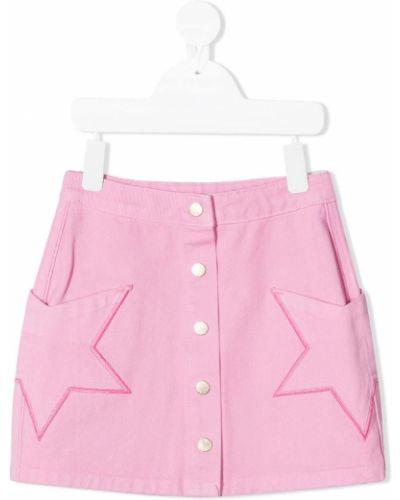 Różowa spódnica mini z wysokim stanem bawełniana Billieblush