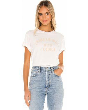 T-shirt z nadrukiem z printem - biała Wildfox Couture