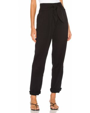 Klasyczne spodnie z kieszeniami czarne L'academie