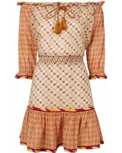 Платье шелковое желтый Talitha