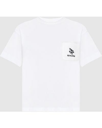 Белая футболка Red Valentino