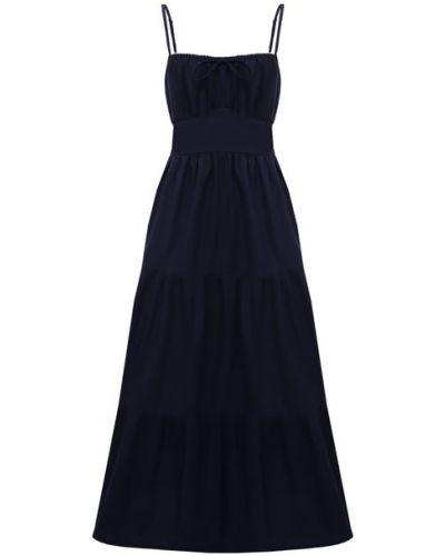Хлопковое платье - синее Faithfull The Brand