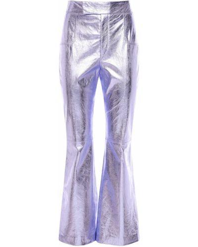 Кожаные укороченные брюки с карманами Philosophy Di Lorenzo Serafini