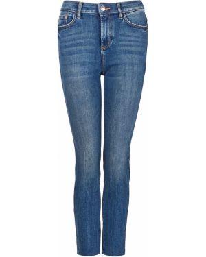 Синие укороченные джинсы в стиле бохо Tom Tailor