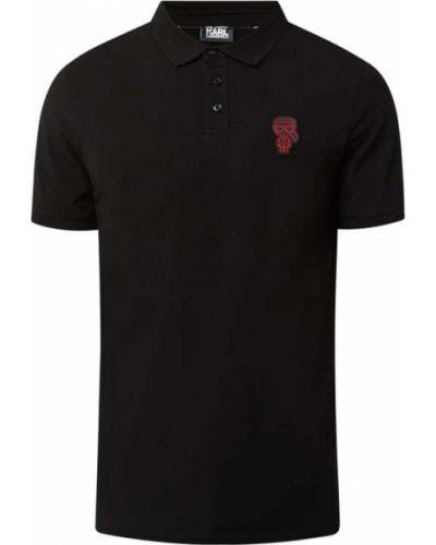 Czarna koszulka bawełniana Karl Lagerfeld
