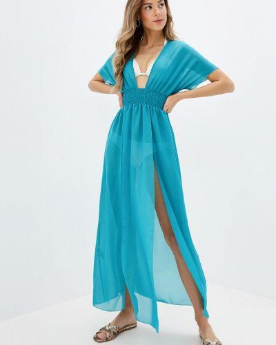 Пляжное платье бирюзовый осеннее Donatello Viorano