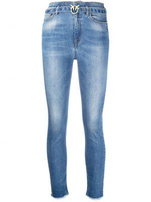 Синие джинсы-скинни с высокой посадкой на молнии Pinko