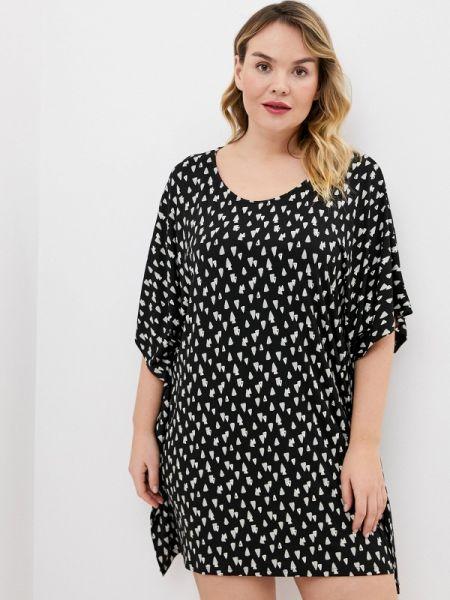 Платье черное весеннее Ulla Popken