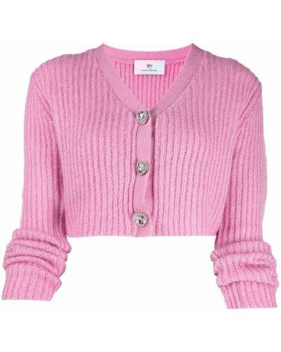 Розовый укороченный топ Chiara Ferragni