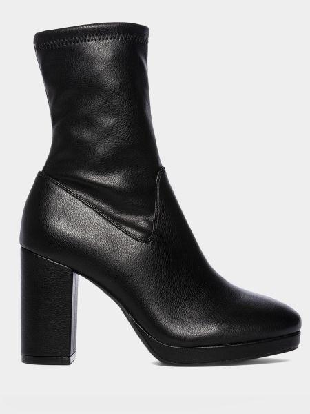 Сапоги с квадратным носком - черные M Wone