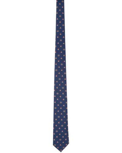 Żółty krawat z jedwabiu Gucci
