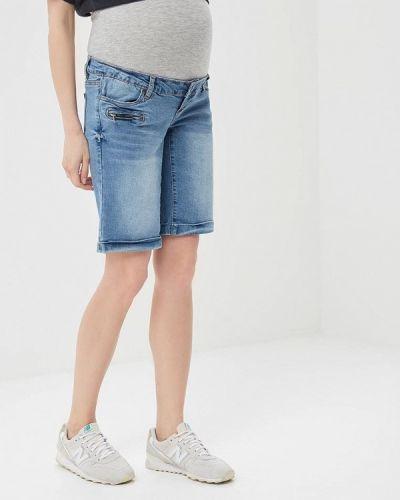 Голубые джинсовые шорты Mama.licious