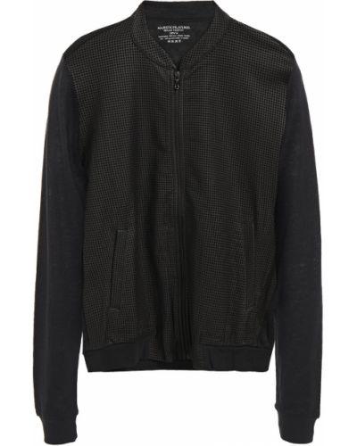 Черная кожаная куртка с карманами Majestic Filatures