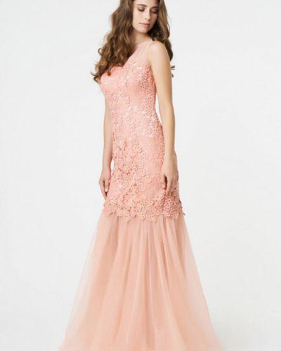 Розовое платье осеннее Ricamare