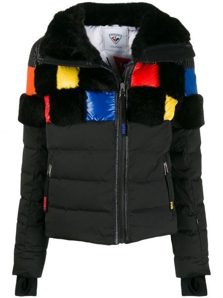 Облегающая черная горнолыжная куртка на молнии с воротником Rossignol