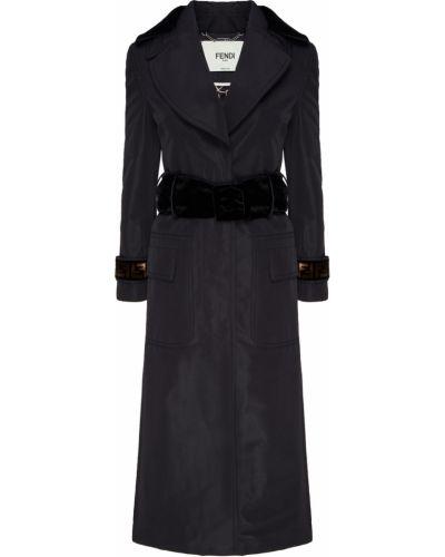 Пальто демисезонное с воротником Fendi