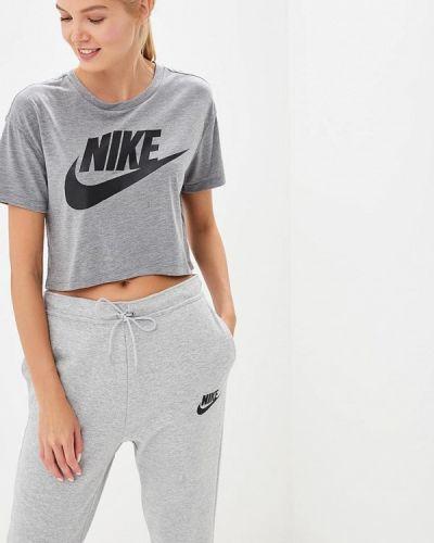 Серое поло Nike