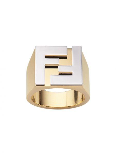 Pierścień złoto Fendi