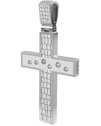 Белый крест с фианитом Graf кольцов