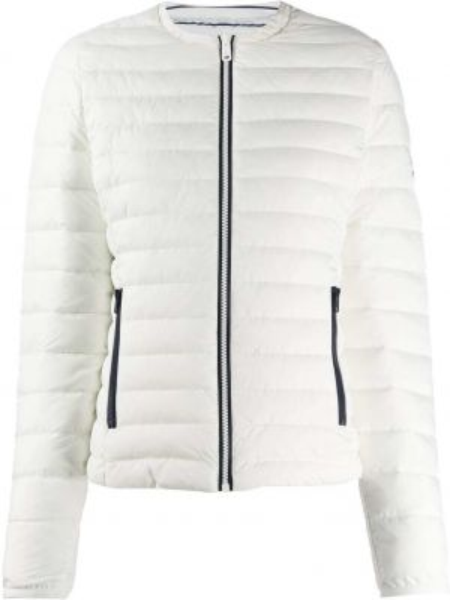 Белая прямая куртка на молнии с карманами Ecoalf