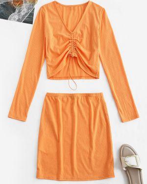 Платье макси длинное с длинными рукавами Zaful