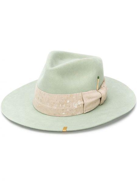 Прямая зеленая фетровая шляпа Nick Fouquet