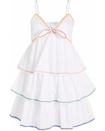 Хлопковое белое платье на резинке English Factory