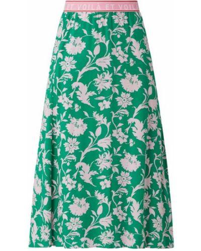 Zielona spódnica maxi rozkloszowana z wiskozy Smith And Soul