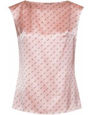 Блузка без рукавов розовая из вискозы Vassa&co