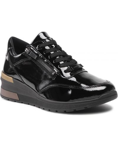 Buty sportowe skorzane - czarne Ara