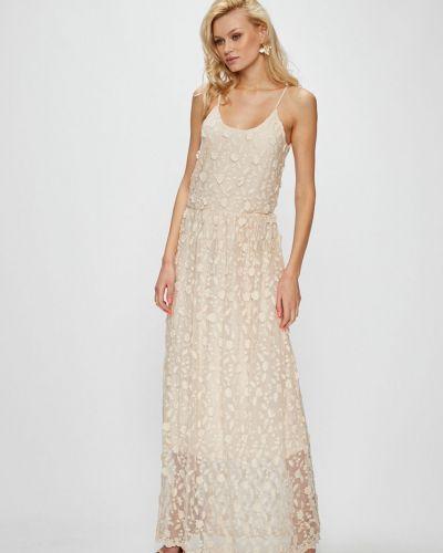 Платье с поясом на бретелях макси Vero Moda