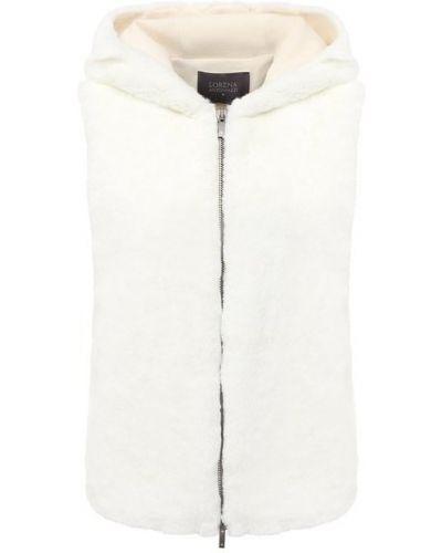Белая жилетка из искусственного меха без рукавов Lorena Antoniazzi