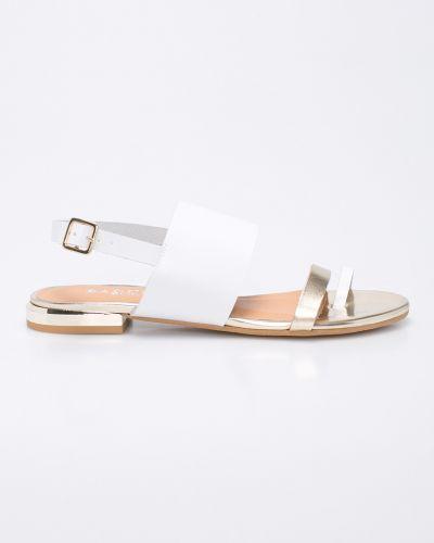 Белые сандалии кожаный Badura