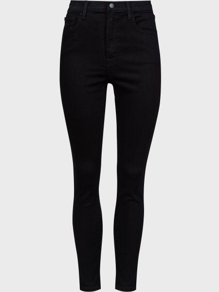 Черные зауженные джинсы-скинни на молнии Frame